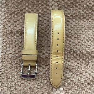 Michelle 16 inch Yellow patent leather watch band